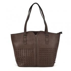 shopper taška s dlhými ramienkami a zapínaním na zips.