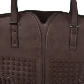 šedá dámska kabelka na rameno s veľkým úložným priestorom.