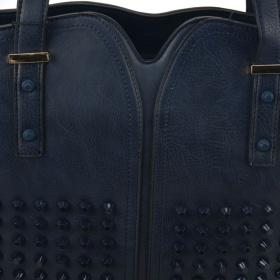 veľká dámska kabelka modrej farby