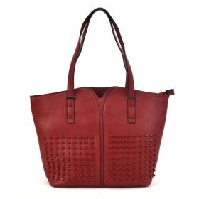 červená shopper kabelka