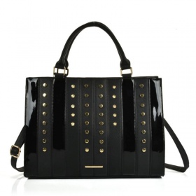 Čierna kabelka - Patchwork