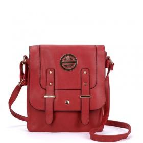 červená športová crossbody kabelka dámska. Zlatý talizman.