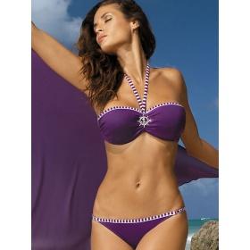 Dvojdielne fialové dámske plavky  Marko viazané okolo krku.