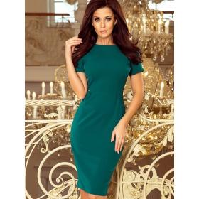 Zelené dámske šaty nad kolená s krátkymi rukávmi veľkosť M