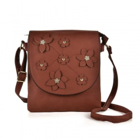 Kvetinová hnedá kabelka