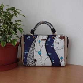 Modrobiela kabelka -...
