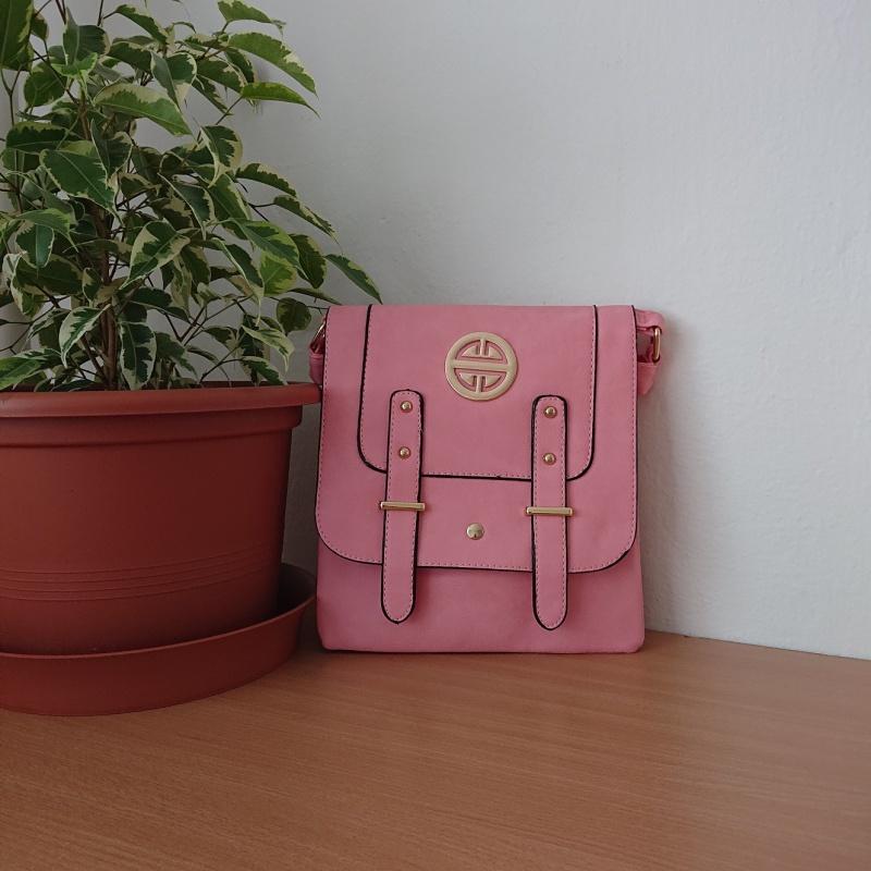 Ružová kabelka Crossbody