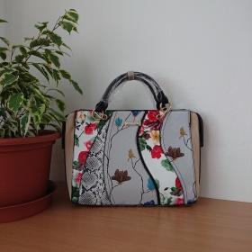 Biela kabelka - Patchwork...