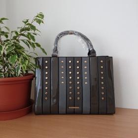 Šedá kabelka - Patchwork