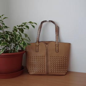 Veľká hnedá kabelka Shopper