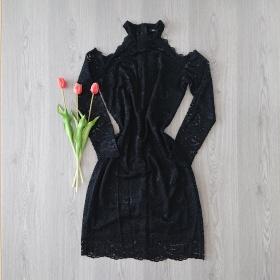 Čierne krajkové šaty ONLY