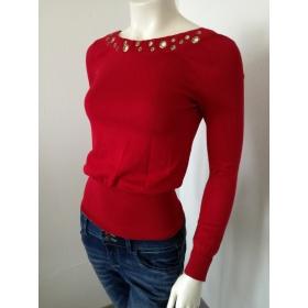 Červený dámsky pulóver XOXO