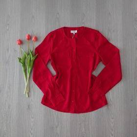 Červená blúzka Zalando