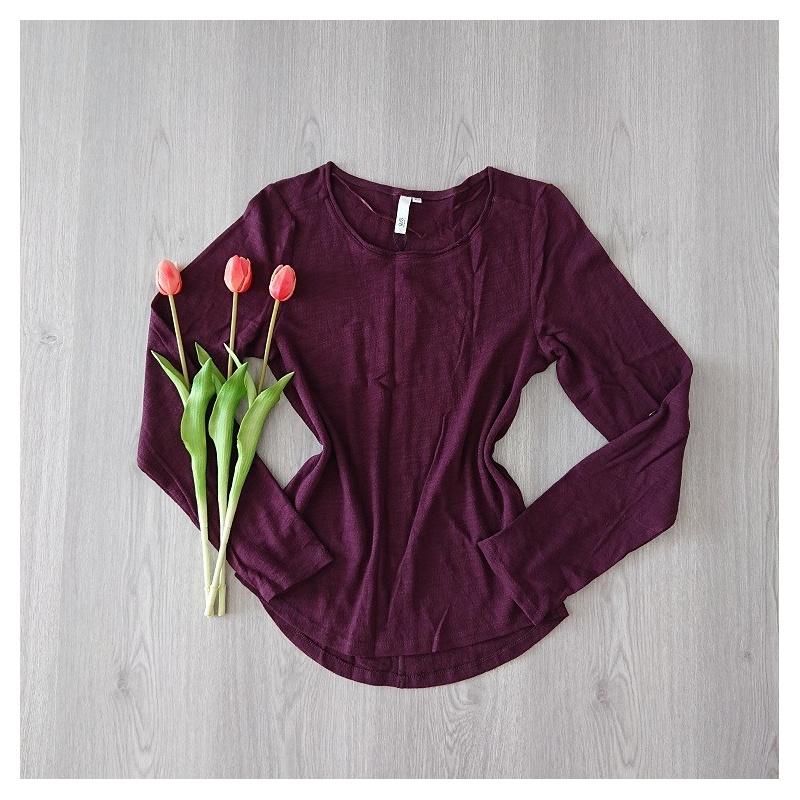 Bordový dámsky sveter S´Oliver s dlhými rukávmi. Veľkosť  XS.