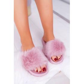 Ružové Dámske šľapky  -...