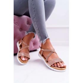 Zlaté Dámske sandále LU BOO...