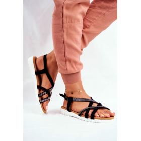 Čierne Dámske sandále LU...