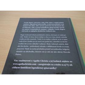 Kniha Vražda Rogera Ackroyda - Agatha Christie