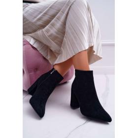 Čierne Dámske topánky ADY -...