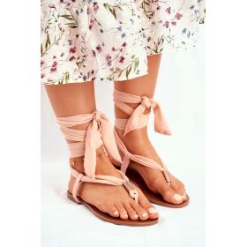 Béžové Dámske sandále HAN -...
