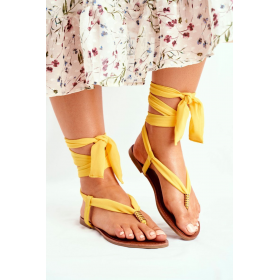 Žlté Dámske sandále HAN -...