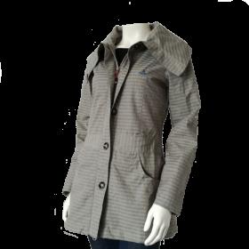šedý dámsky kabát Ock