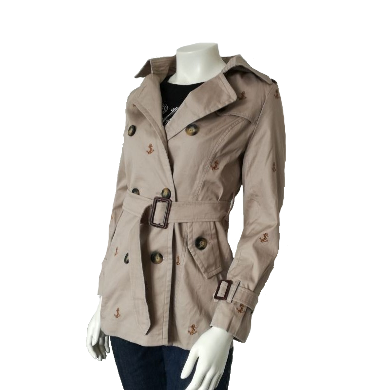 Hnedý dámsky kabát Rom Fuoco