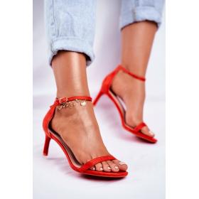 Červené Dámske sandále SEA...