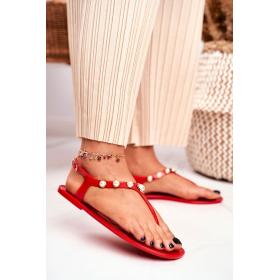 Červené Dámske sandále LU...