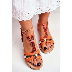 Oranžové Dámske sandále SEA...