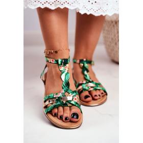 Zelené Dámske sandále SEA...