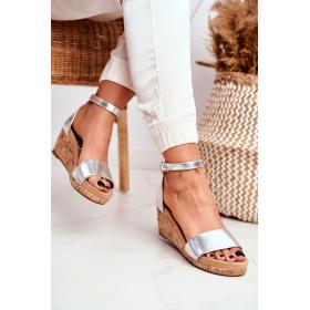 Strieborné Dámske sandále...