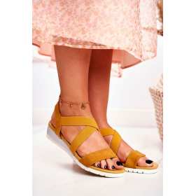 Žlté Dámske sandále SEA...
