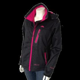 Čierna dámska športová bunda s kapucňou Trespass