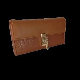 Veľká hnedá dámska peňaženka