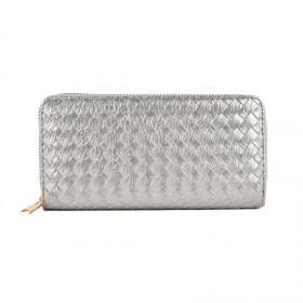 Strieborná lacná dámska peňaženka