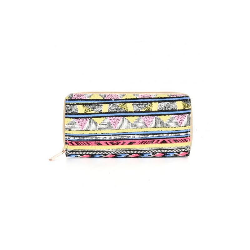veselá viacfarebná dámska peňaženka