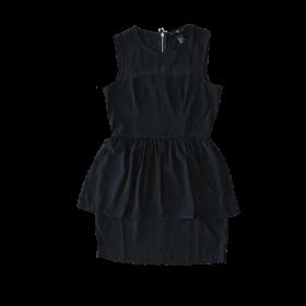 čierne dámske šaty bez rukávov