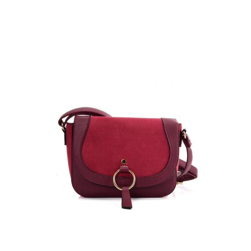 purpurová dámska crossbody kabelka