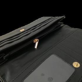 čierna dámska peňaženka s perličkami
