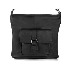 čierna dámska kožená kabelka Klasik