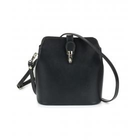 malá čierna dámska kožená kabelka Mona.