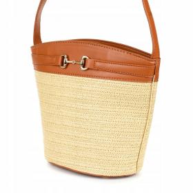 Hnedá dámska kabelka na leto SUNNY