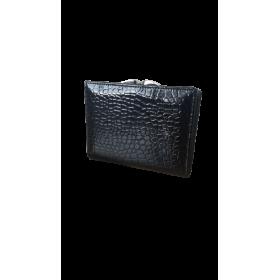 Čierna kožená lakovaná dámska peňaženka Alessandro