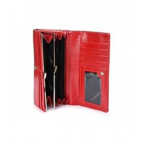 Červená lakovaná peňaženka klasik Alessandro
