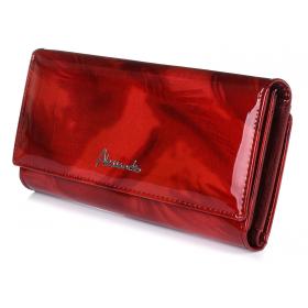 Luxusná bordová kožená peňaženka