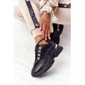 Čierne dámske športové topánky Good Mood F4U14073