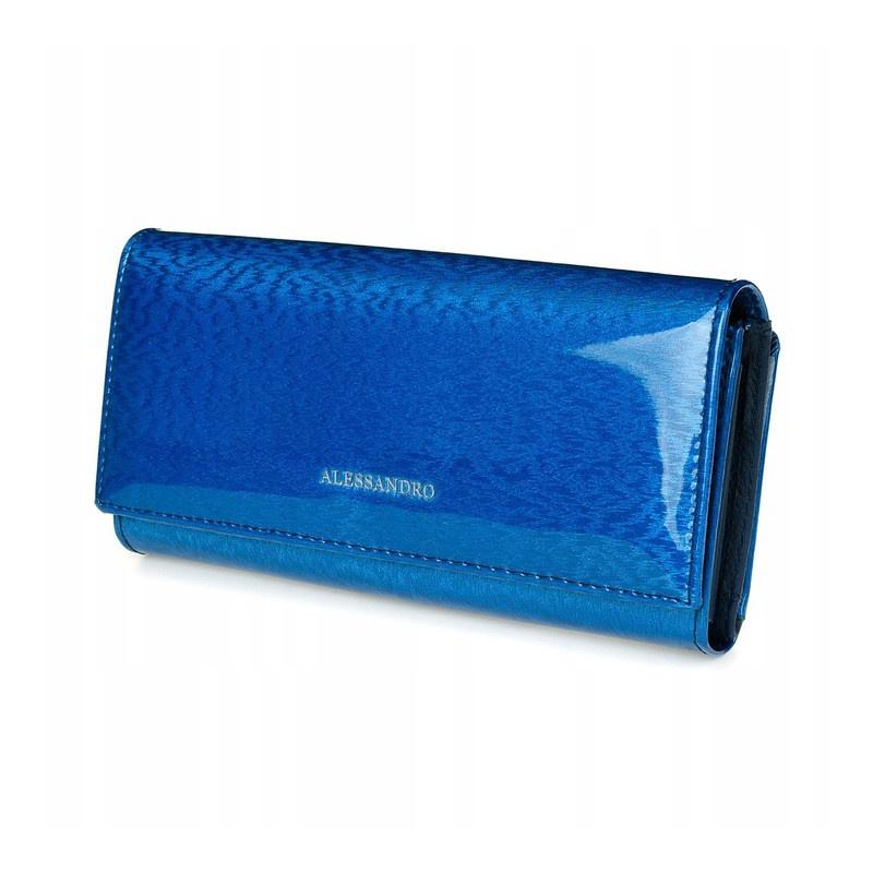 Modrá kožená peňaženka Alessandro - Magnet