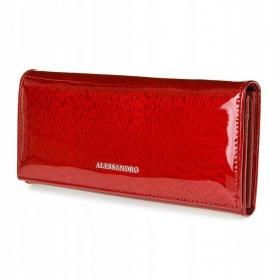 Červená kožená peňaženka...