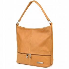 Svetlo hnedá kožená kabelka Beltimore DUO